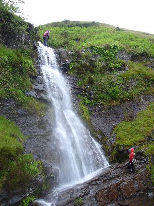 Gorge Walking Wales - You can be abseiing this waterfall.