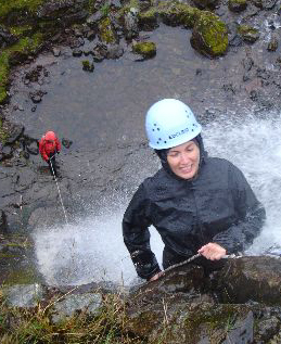 Gorge Walking with Waterfall