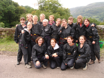 Hen Party Gorge Walking in Wales - Dinas gorge walk